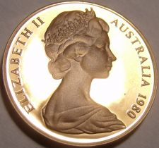 Buy Cameo Proof Australia 1980 2 Cents~Only 68,000 Minted~Frill-Necked Lizard~Fr/Shi