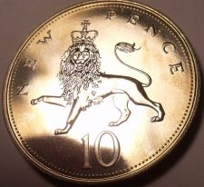 Buy Proof Great Britain 1976 10 Pence~100,000 Minted~Crowned Lion~Free Shipping