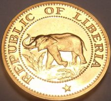 Buy Rare Proof Liberia 1971 Cent~Elephant~Ship~Bird~Palm Tree~Only 3,012 Minted~Fr/S
