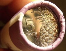 Buy Gem Unc Original Roll (40) Bahamas 2015 5 Cents~Pineapple Coins~Free Shipping
