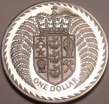 Buy Massive Rare Cameo Proof New Zealand 1973 Dollar~Only 8,000 Minted~Free Shipping