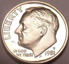 Buy 1981-S PROOF ROOSEVELT DIME~GREAT PRICE~FREE SHIPPING~