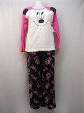 Buy Disney Minnie Women's Pajamas 2PC Set Size XL Sleep Shirt & Pants Minky Fleece
