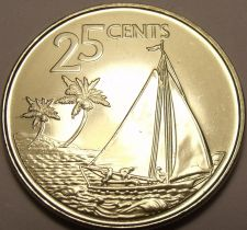 Buy Gem Unc Bahamas 2007 25 Cents~Bahamian Sloop New Design~Free Shipping