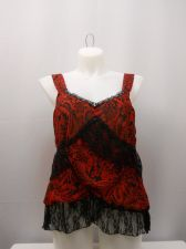 Buy NYC Design Co Women's Camisole Lace Beaded Floral Tired Straps Size 1X Evening