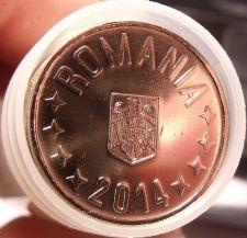 Buy Gem Unc Roll (35 Coins) Romania 2014 50 Bani Coins~Edge Incription~Free Ship