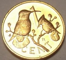 Buy Cameo Proof British Virgin Islands 1975 Cent~32,000 Minted~Hummingbird~Free Ship