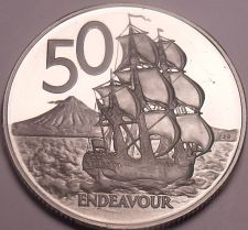 Buy Huge Cameo Proof New Zealand 1979 50 Cents~16,000 Minted~Free Shipping