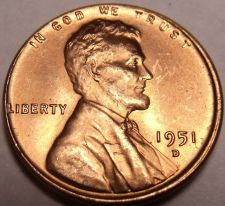 Buy United States 1951-D Unc Lincoln Wheat Cent~Free Shipping