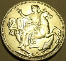 Buy Gem Unc Silver Greece 1960 20 Drachmai~1st Year Ever~Awesome~Free Shipping~