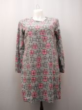 Buy SIZE L 12 14 Womens Sleep Shirt MICRO FLEECE Long Sleeves Pullover Heather Grey