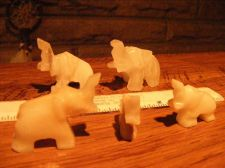 Buy ELEPHANTS (6) Onyx HAND CRAFTED FIGURES WITH TRUMPETS UP !!