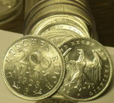 Buy Rare Gem Unc Roll (20) Germany Weimar Republic 1923-G 200 Mark Coins~Free Ship