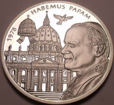 Buy Rare 50mm Silver Proof Malta 2004 200 Liras~2,988 Minted~WE HAVE A POPE!~Free Sh
