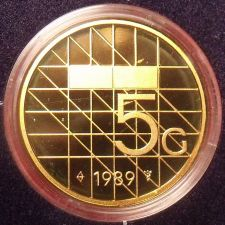 Buy Rare Encapsulated Proof Netherlands 1989 5 Gulden~15,300 Minted~Free Shipping