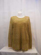 Buy Lauren Ralph Lauren 2Pc Gold Long Sleeve Scoop Neck Knit Sweater Plus Size 2X