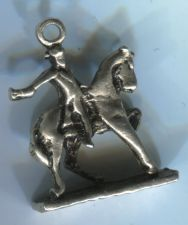 Buy CHARM: VINTAGE silver FACELESS SILVER PAUL REVERE ON HORSE