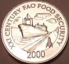 Buy Rare Gem Unc Panama 2000 F.A.O. Issue 1 Centesimo~Ship In Panama Canal~Free Ship