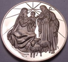 Buy Solid Bronze Proof Franklin Mint Medallion~Madonna And Child~Incredible~Free Shi