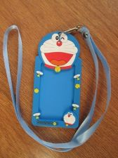 Buy Robot Cat Doramon Lanyard Blue Neck Strap with ID Card Holder,Bus School Credit