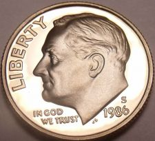 Buy 1986-S PROOF CAMEO AWESOME ROOSEVELT DIME~FREE SHIPPING