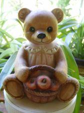 Buy Mama Teddy Bear Basket of Apples Figurine #1405 byHomco