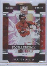 Buy MLB 2009 DONRUSS ELITE DIECUT #102 BRAXTON LANE RC /100 MNT