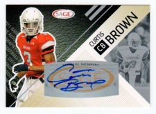 Buy NFL 2011 SAGE CURTIS BROWN AUTO RC MNT