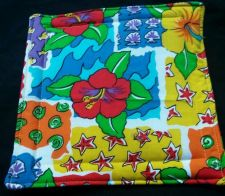 Buy 100% quilted Cotton Pot Holder Floral Beach design Star Sea shell hand made