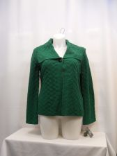 Buy Women's Wrap Sweater Coat Size M JM COLLECTION Green Long Sleeves Collared Neck