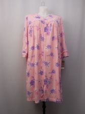 Buy White Stag Women's Duster Robe Micro Fleece Size 2X Floral 3/4 Sleeves Pockets