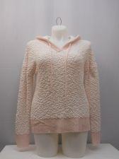 Buy No Boundaries Sweater Juniors Size XL Popcorn Chenille Hooded Ribbed Hem Pink