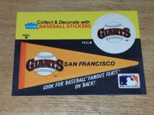 Buy VINTAGE S.F. GIANTS 1986 FLLER LIMITED EDITION STICKERS NMNT-MNT