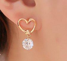 Buy New Design Rhinestone Crystal Silver Stud Earrings Piercing Ear Studs for Women
