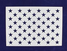 """Buy US G Spec 10.5 x 14.82"""" Long Star Field Painting/Crafts/Stencil/Template"""