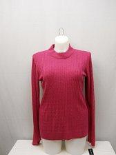 Buy Womens Crewneck Sweater KAREN SCOTT SIZE 2XL Solid Raspberry Long Sleeves Pullov