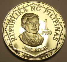 Buy Philippines 1977 Piso Proof~Rare~Only 4,822 Minted~Jose Rizal~Free Shipping