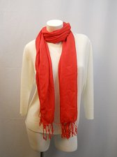 Buy Women Scarf Soft Wrap Solid Red Fringed All Occasion Wrap Shawl Size 70X26