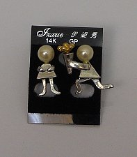 Buy Women Fashion Stud Earrings Forgive Me Flowers Gold Tones Push Back Fasteners