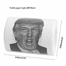 Buy Donald Trump Toilet Paper Roll Novelty Gift -Dump & Clean your Rump with Trump-