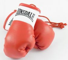 Buy Lonsdale Red Mini Boxing Gloves for Autograph Hunters