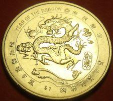 Buy Liberia 2000 Dollar Gem Unc~Millenium~Chinese Dragon~Free Shipping