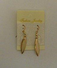 Buy Women Fashion Drop Dangle Earrings Gold Tones Beige Center FASHION JEWELRY Hook