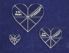 """Buy 3 piece Heart Set w/guidelines 1"""", 2', 3"""" - 1/8"""" Acrylic-Clear -"""