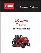 Buy Toro LX Series ( LX420 LX425 LX460 LX465 LX500 ) Lawn Tractor Service Manual CD