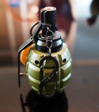 Buy Auto Ignition Flame Butane Gas Jet hand grenade Green sphere # 072