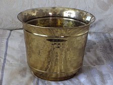 Buy FLOWER POT 8 X 6 in Tall Brass Decorative Floral Used