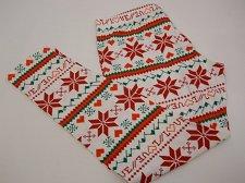 Buy SIZE L Womens CHRISTMAS LOVE Ankle Leggings NO BOUNDARIES Skinny Legs Inseam 28