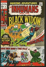 Buy INHUMANS and the BLACK WIDOW in Amazing Adventures #4 Marvel Comics J KIRBY 1970