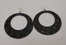 Buy Women Earrings Fashion Drop Dangle Hoops Solid Black Hook Fasteners Unbranded
